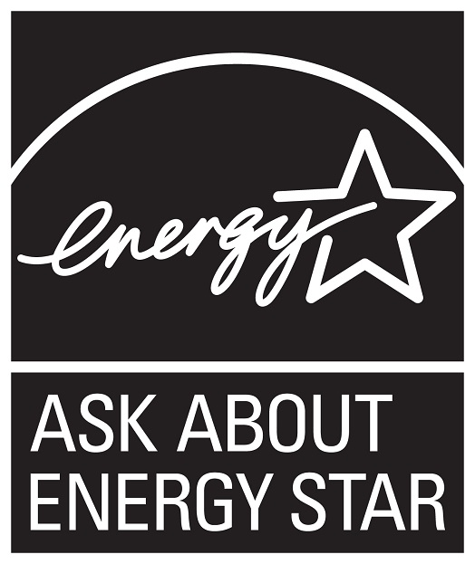 Ask about ENERGY STAR – black, vertical version
