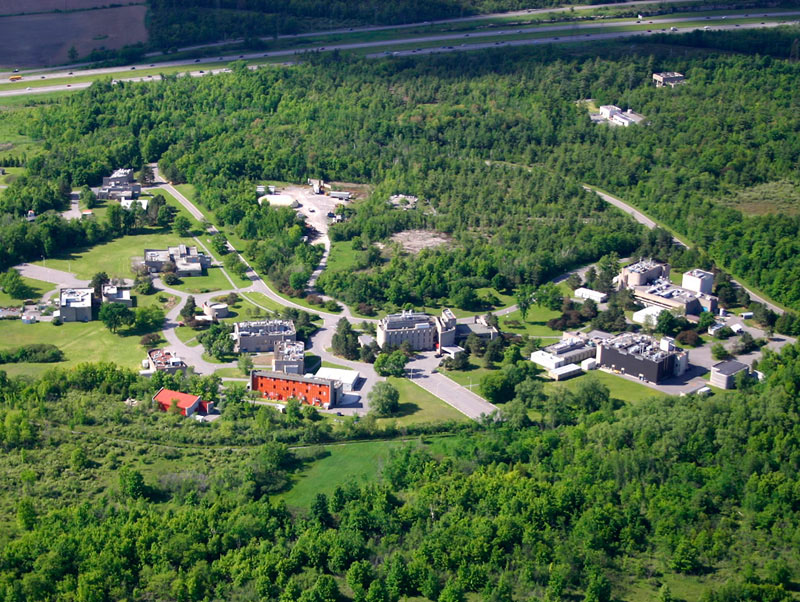Aerial shot of the Bells Corners Complex which houses CanmetENERGY-Ottawa, CanmetMINING and CanmetCERL