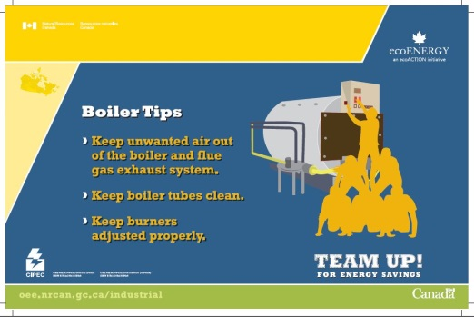 TEAM UP FOR ENERGY SAVINGS - BOILER TIPS (POSTER) (MAX 50)