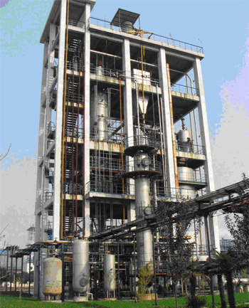 A photograph of the Thermal Power Research Institute (TPRI) 10 MW gasifier plant in Xi'an China.