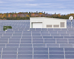 First Light photovoltaic 9.1 MW utility-scale installation on 90 acres in Stone Mills, Ontario, Canada