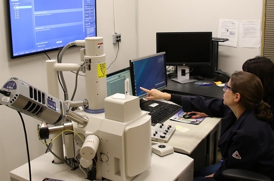 Analysts use a scanning electron microscope coupled with Energy Dispersive x-ray (SEM/EDX) for the determination of the morphology of a sample