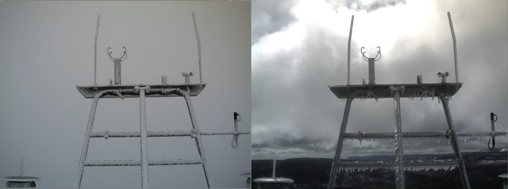 Icing observations at CORUS Experimental Northern Wind Energy Site
