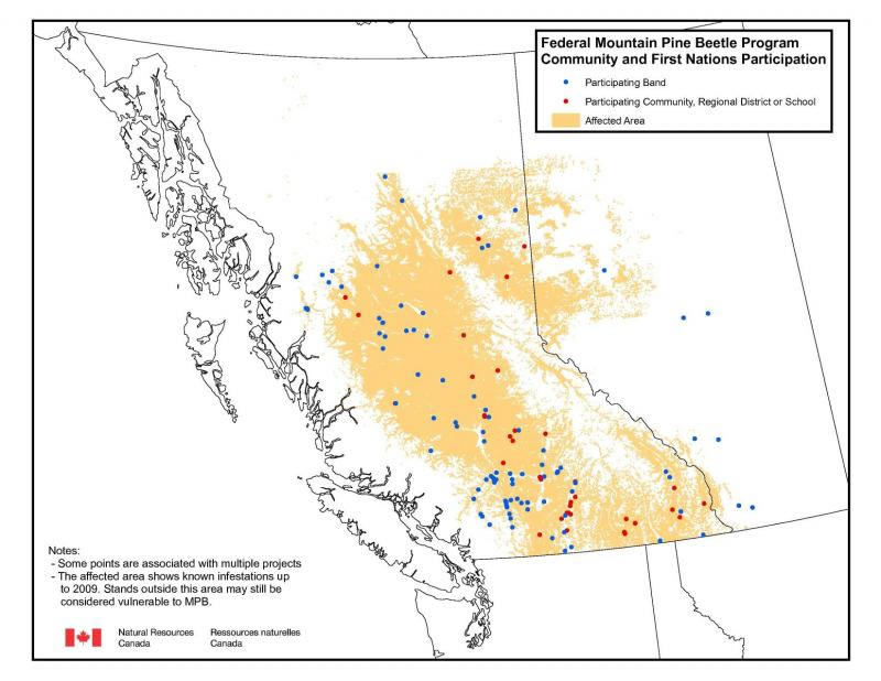 Map of community and First Nations participation