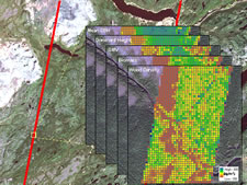 Aerial LiDAR data are used to generate predictions of forest structure and wood fibre attributes across the landscape.
