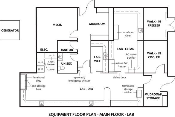 This image shows the floorplan of the Dr. Roy M.
