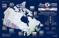 Canada's Population Density - Poster Map