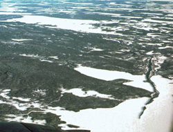 Phot showing Taiga Shield ecozone - forest terrain with esker