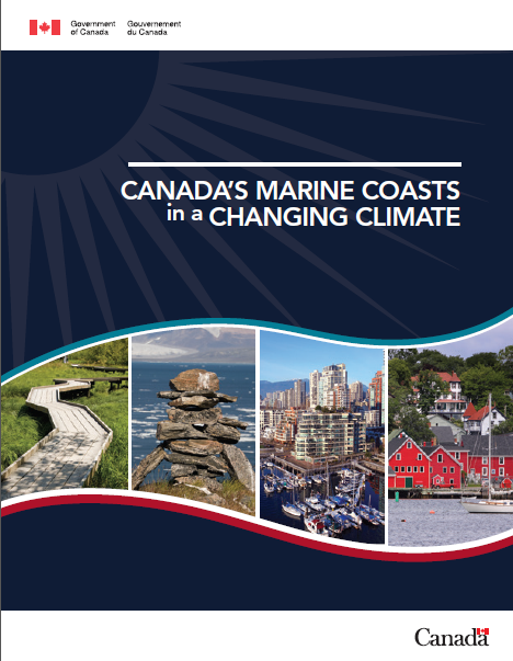 Cover of report,  Canada's Marine Coasts in a Changing Climate
