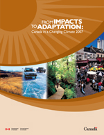 Cover of From Impacts to Adaptation: Canada in a Changing Climate 2008 report
