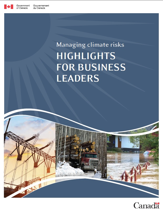 Cover of report,  Managing climate risks