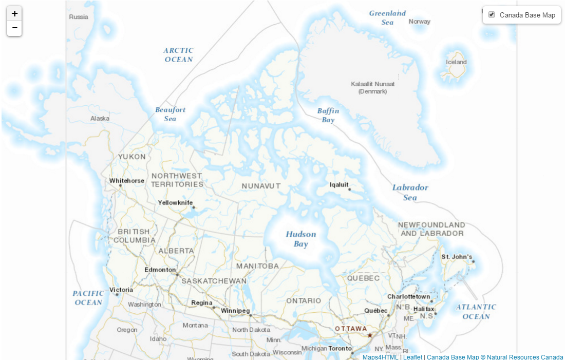 web maps canada base map