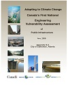 Cover page of case study, titled, City of Edmonton Climate Change Vulnerability Assessment for the Quesnell Bridge