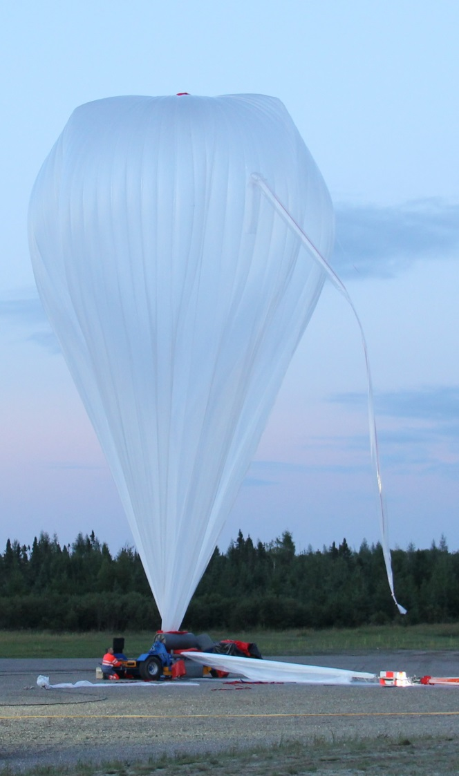 Inflating a stratospheric balloon