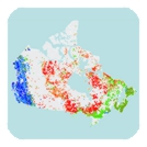 Canadian Geochronology Knowledgebase map
