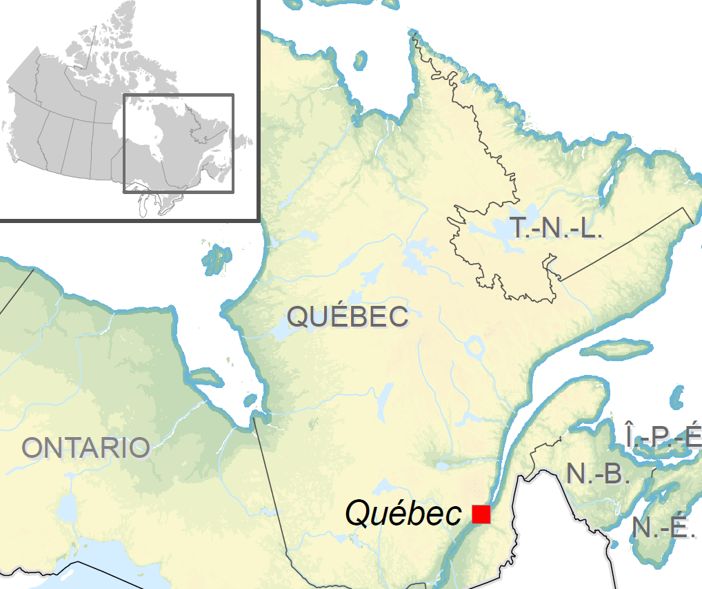 Québec Citys Environmental Services Adaptation Plan Natural - Quebec map with cities