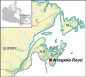 Map of Annapolis Royal