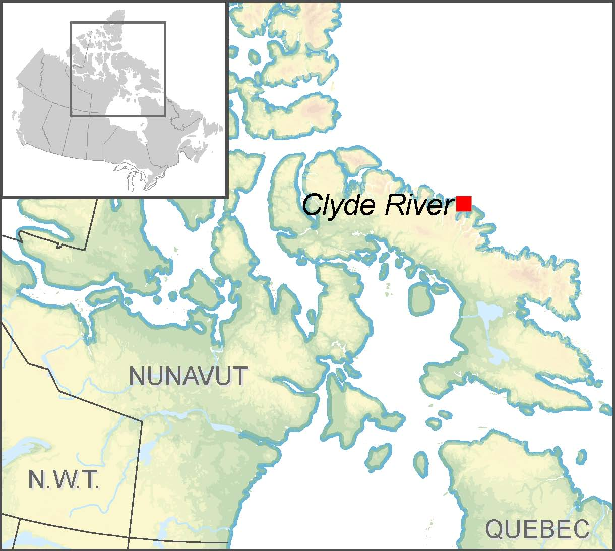 Map Of Canada Nunavut.Clyde River S Community Climate Change Adaptation Plan Natural