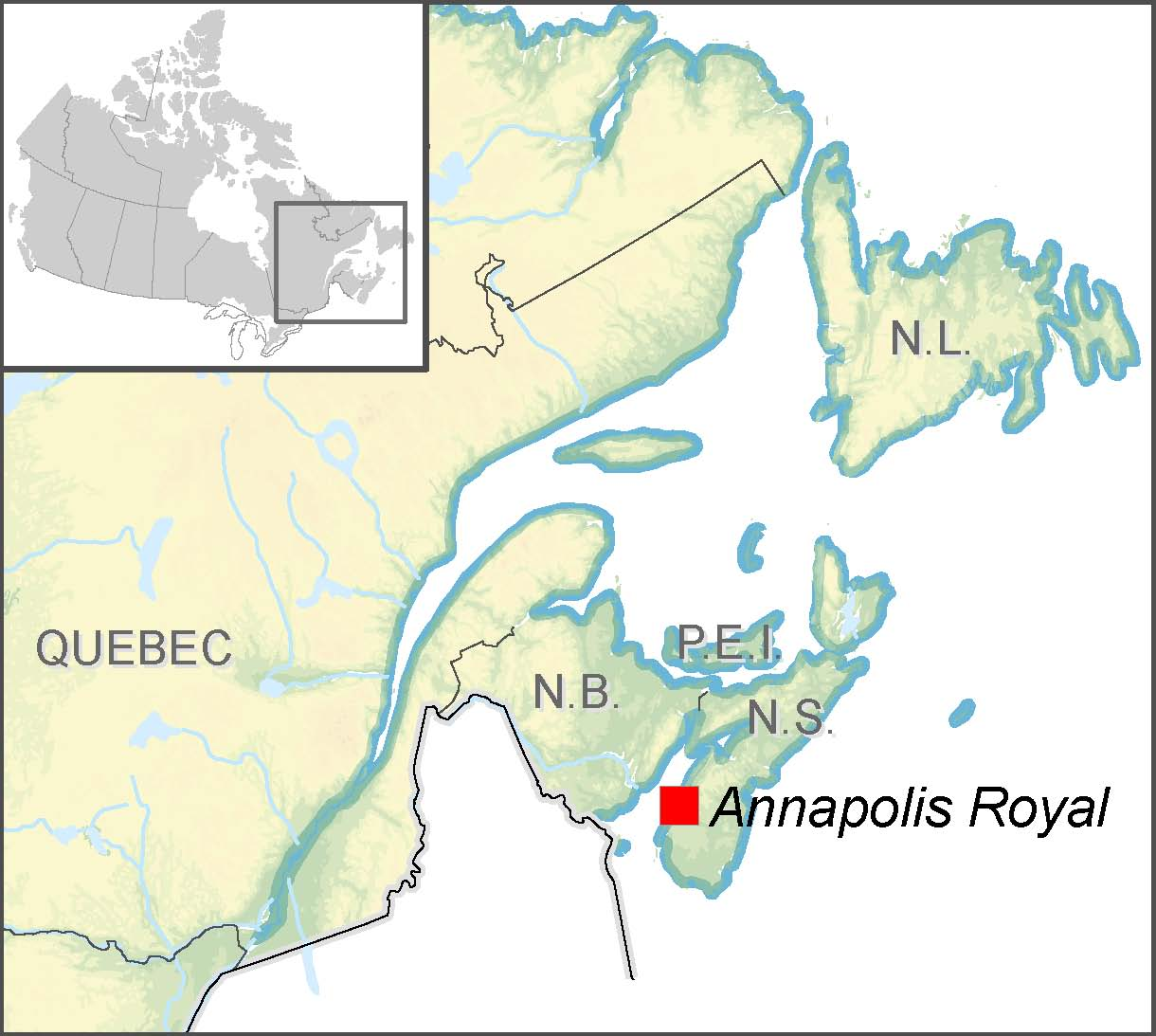 Preparing For Storm Surges In Annapolis Royal Nova Scotia - Anápolis map