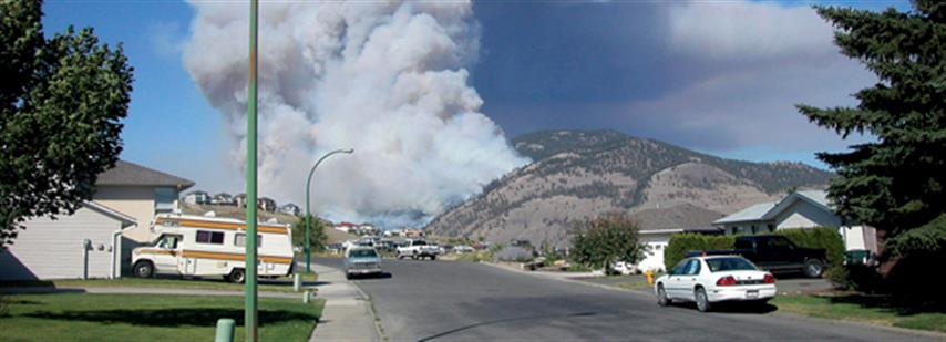 Photo of fire on the perimeter of Kamloops