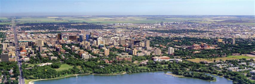 Aerial photograph of Regina, Saskatchewan