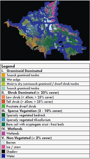 Northern Land Cover of Canada: 2000- Landsat images (30 m) with Legend