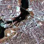 Two satellite images of Ottawa, Canada