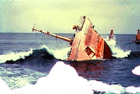 The sinking of a ship...