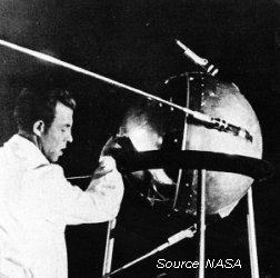 Scientist working with Sputnik