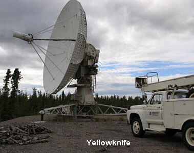 Portable VLBI antenna in Yellowknife