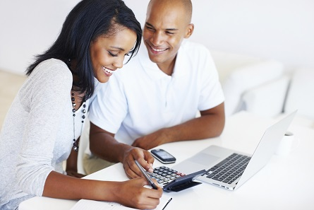 Image of a couple using a computer