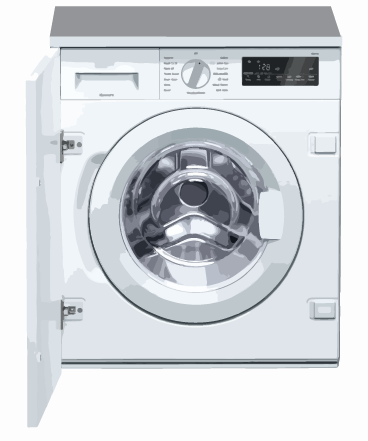 Integrated clothes washer-dryers