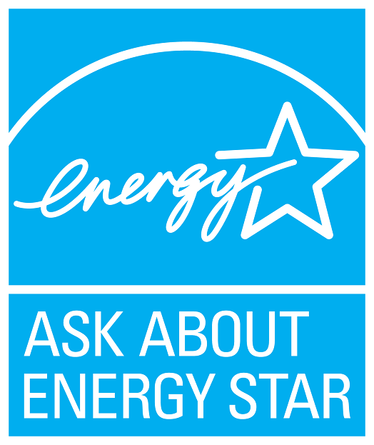 Ask about ENERGY STAR – cyan, vertical  version