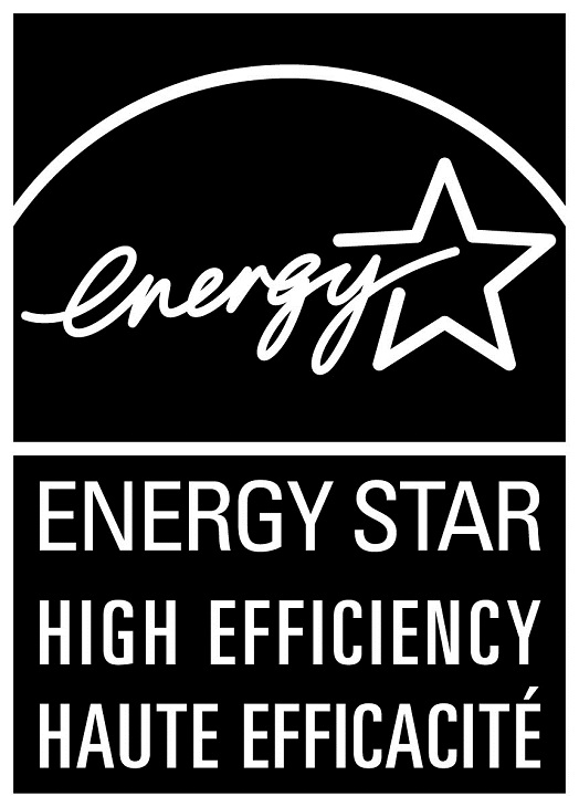 ENERGY STAR HIGH EFFICIENCY – HAUTE EFFICACITÉ, vertical black symbol