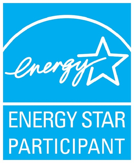ENERGY STAR PARTICIPANT, vertical cyan symbol