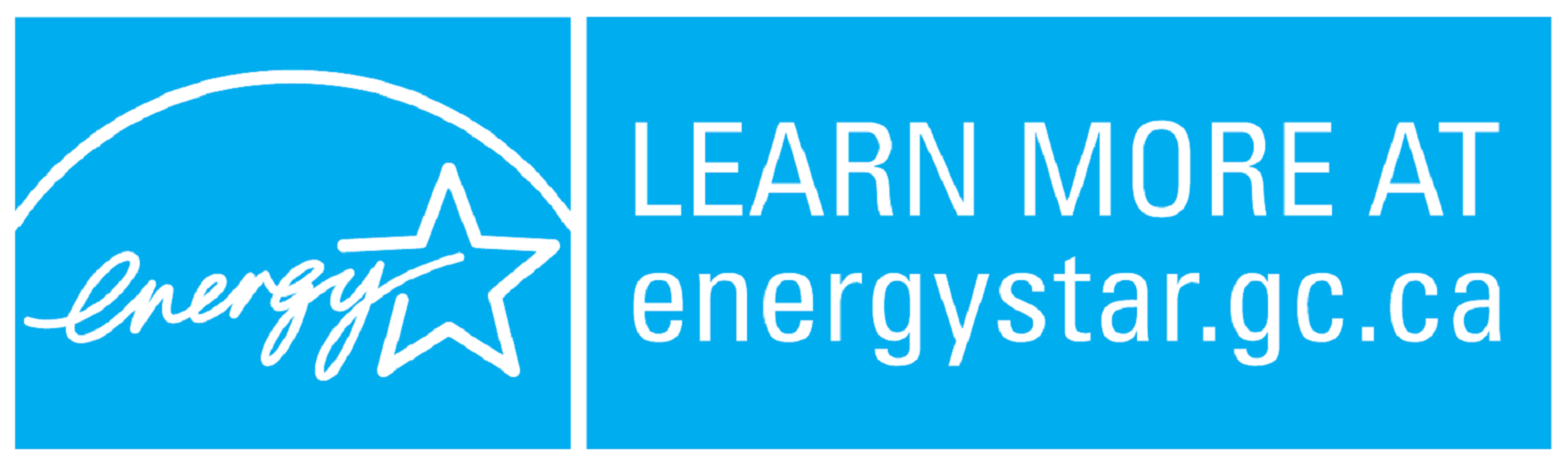 LEARN MORE AT energystar.gc.ca, horizontal cyan symbol
