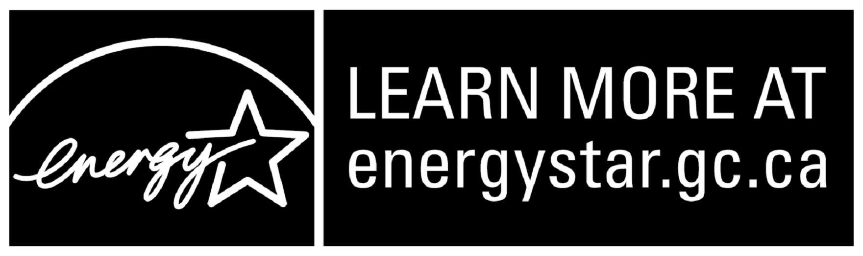LEARN MORE AT energystar.gc.ca, horizontal black symbol
