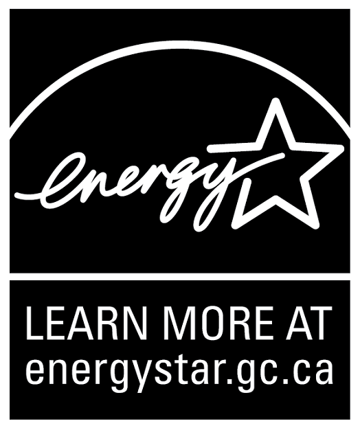 LEARN MORE AT energystar.gc.ca, vertical black symbol