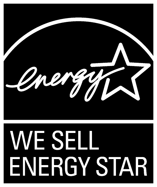 WE SELL ENERGY STAR, vertical black symbol