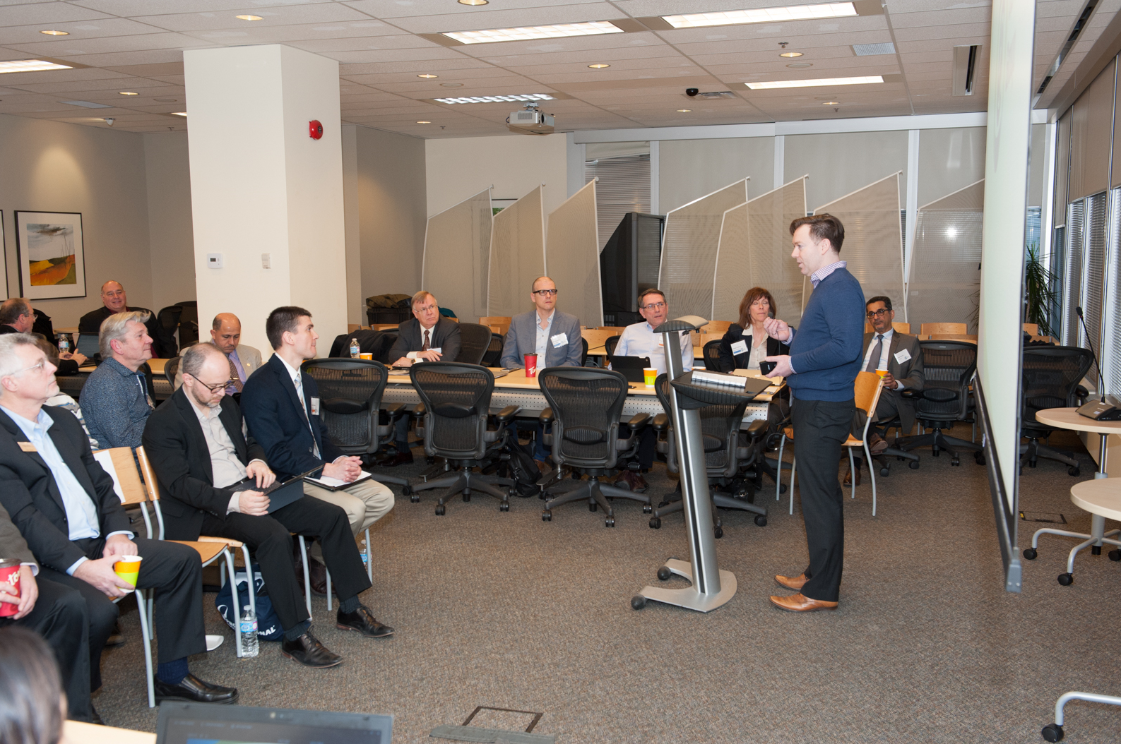 Taken on January 28, 2016 at CSA Group Headquarters where the Electric Vehicle Supply Equipment (EVSE) Infrastructure Requirements in the National Building Code of Canada (NBCC) and the Canadian Electrical Code (CE Code) workshop was held. The objective of this workshop was detail existing Code and Regulatory barriers impeding the deployment of EVSE technology in Canada and, provide recommendations to overcoming the identified barriers.