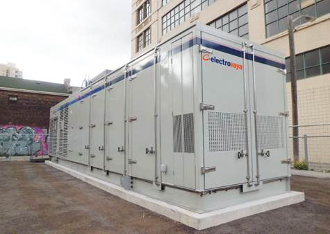 Electrovaya's Battery Energy Storage System (BESS) installed in downtown Toronto