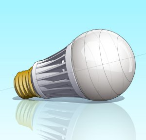A light-emitting diode light bulb (LED)