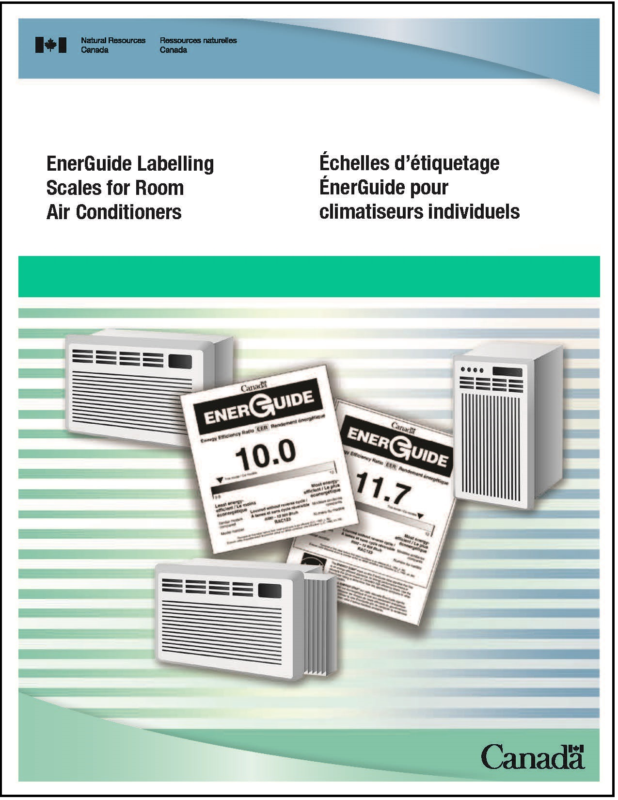 Cover of the EnerGuide labelling scales for room air conditioners