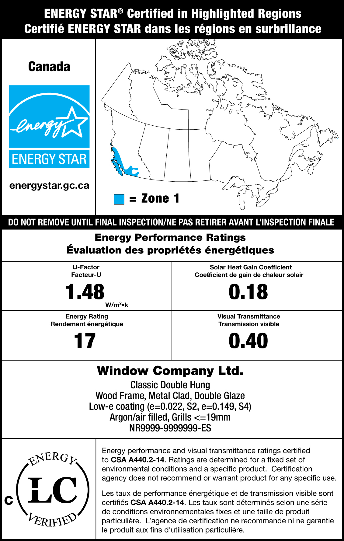 sample energy star label canada map with the energy performance label and certification mark labtest