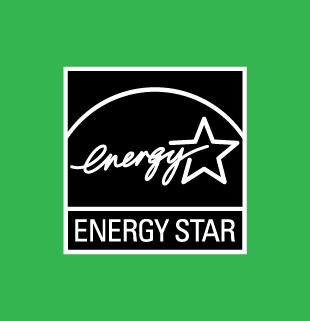 ENERGY STAR black logo on a coloured background