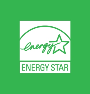 ENERGY STAR white symbol on a coloured background