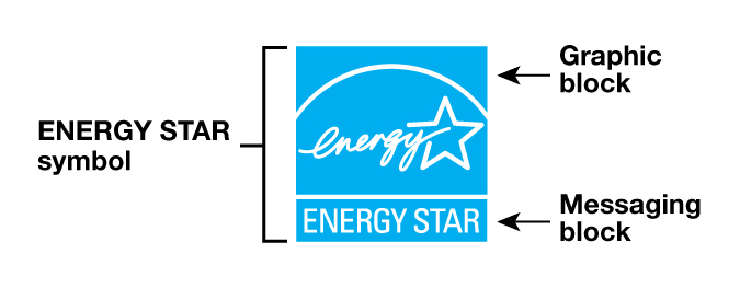 ENERGY STAR logo elements - a graphic block and a messaging block