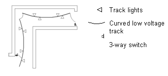 diagram showing how track lights can be hung