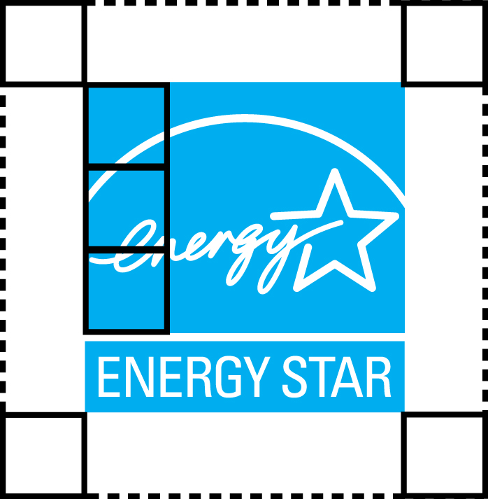Clear space around the ENERGY STAR logo