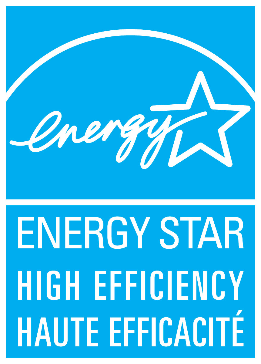 ENERGY STAR high efficiency, haute efficacité symbol